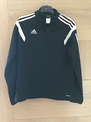 Boys Adidas Climacool Zip Neck Training Top Size YL Age 11-12
