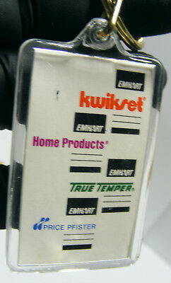1988 EMHART Home Products TRUE TEMPER kwikset PRICE PFISTER keyring