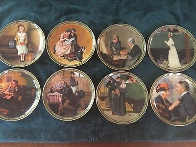 Norman Rockwell plates, American Dream Series, Complete Set of 8 Plates