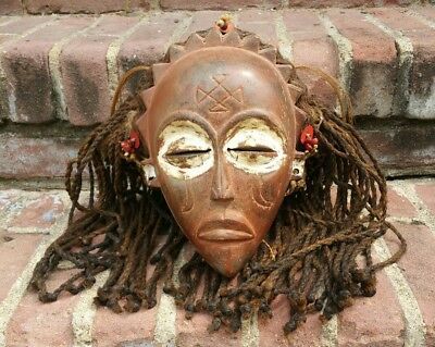 Rare Chokwe Pwo-Style Female Woman Mask DR Congo / Angola African Tribal Art!!!