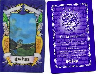 Harry Potter:REMEMBRALL Lenticular 3D Trading Picture Card | Chocolate Frog 2001