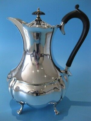 Beautifully Elegant Antique Victorian Silver Plated Footed Hot Chocolate Pot