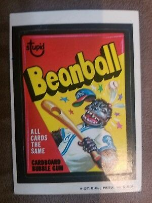 1973 Wacky Packages Series 3 Beanball WHITE BACK - Rare