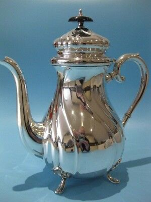 Beautiful Vintage Regency Style Large Silver Plated Coffee Pot Hot Chocolate Pot