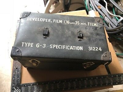 Morse Type G3 Film Developer - 16 and 35 Milimeter - Model B2201 - Military AAF