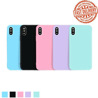 For iPhone X XS Max XR 8Plus Case Cute Silicone Rubber Thin TPU Shockproof Cover