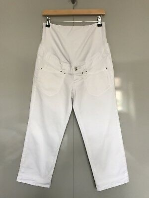 H&M Mama Maternity Crop Jeans White Eur 40 (UK 10-12)