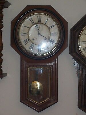 antique wall clock  ( TWO SIMILAR LISTED HERE)
