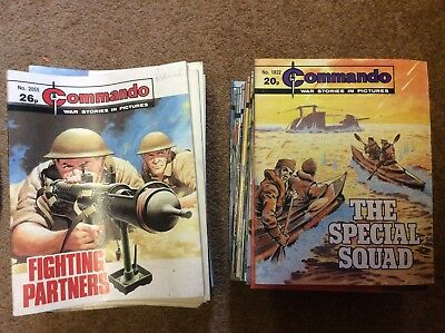 JOB LOT OF COMMANDO COMICS, 48 ISSUES, 1980s, GREAT CONDITION