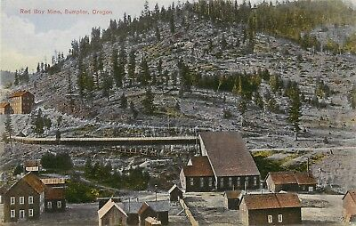 c1910 Chromograph Postcard; Red Boy Gold/ Silver Mine, Sumpter OR Baker County