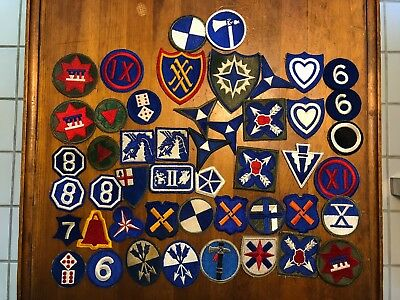 Lot of 49 patch patches WWII WW2 to now - Corps