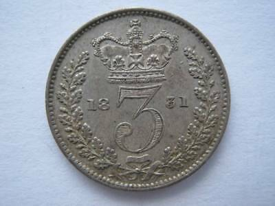 1831 Maundy Threepence GVF