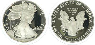 USA 1 Dollar 1987 - Walking Liberty - Silber - PP (Proof) in Kapsel
