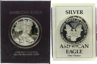 USA 1 Dollar 1988 Walking Liberty - Silber - PP (Proof) in OVP + Zertifikat