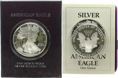 USA 1 Dollar 1989 - Walking Liberty - Silber - PP (Proof) in OVP + Zertifikat