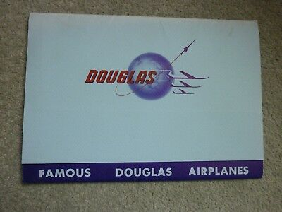 Famous DOUGLAS airplanes....a folder with 20 b/w photographs(spec overleaf)