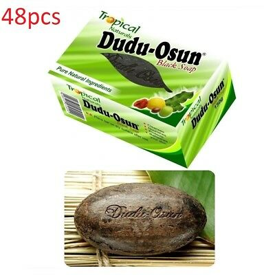 Dudu Osun African Black Soap for Eczema, Acne, Fungus 150g X 48pcs