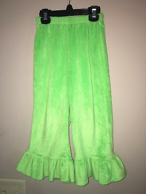 Beehave Size 4T Green Pants With Ruffles Euc