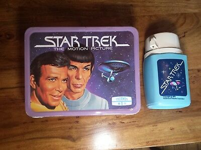 vintage star trek lunch box 1979 with thermos, unused