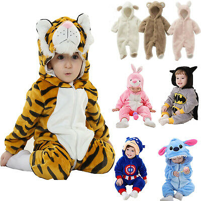 Toddler Kids Boy Girl Pajamas Kigurumi Animal Costume Cosplay Romper Jumpsuit