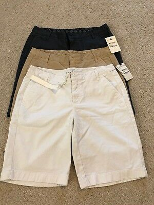 NWT LOT OF 3 CASLON NORDSTROM Womens Shorts CN326112MI Gray/Tan/ White Size 00
