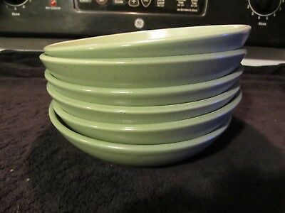"Calvin Klein Khaki Collection Cargo Fatigue(?) green set of 6 8 1/2"" pasta bowls"