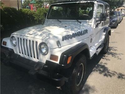 2001 Jeep Wrangler Sahara 2001 Jeep Wrangler Sahara 159870 Miles Stone White Convertible Straight 6 Cylind