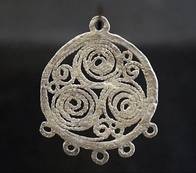 Ancient Viking Silver Amulet. Pendant of Norse Eternity Loop, circa 950-1000 AD