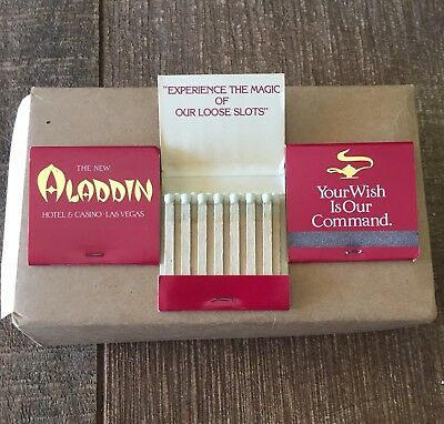Aladdin Hotel & Casino Las Vegas - Full Box of 50 Matchbooks! Final Price Drop.