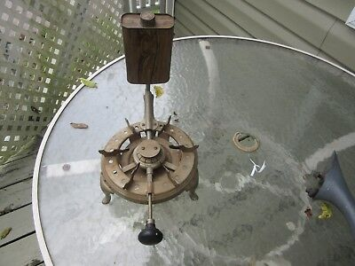 Antique Manning Bowman Co Nickel Plated Alcohol Stove Burner