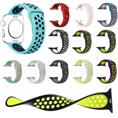 Replacement Silicone Band For Apple Watch Sport 38mm/40mm 42mm/44mm Series 4 3 2