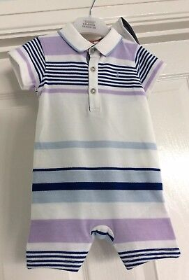 Jasper Conran Baby Boys Romper Suit With Hat 6-9months New With Tags