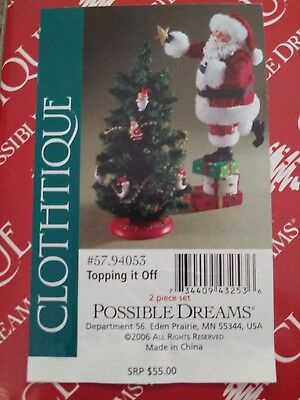 "Possible dreams clothtique santas collection...""topping it off"""