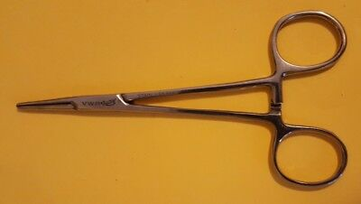 """5"""" Straight VRW Hemostat Forceps Locking Clamps Serrated Jaw Stainless Steel"""