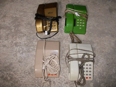 4 Vintage Viscount telephones including Gold and green