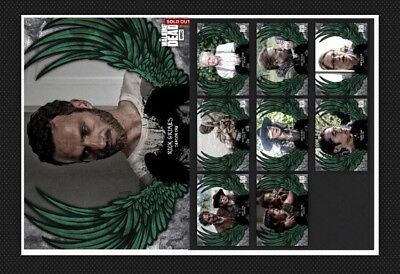 8x SET+RICK GRIMES AWARD-GUARDIAN ANGELS W1-GREEN-TOPPS WALKING DEAD CARD TRADER