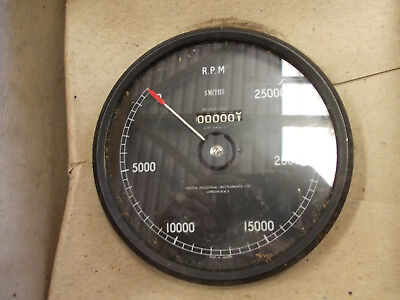 """vintage Smiths 0-25,000rpm 6"""" rev indicator new old stock"""