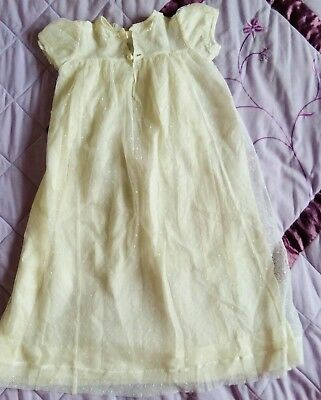 Vintage Ivory Silk Effect Baby's Christening Gown 1950's
