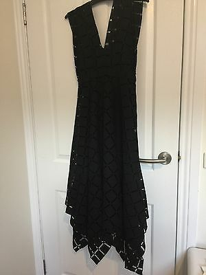 Thurley Black Lace Dress Size 6 Like New Worn Once Perfect For Races