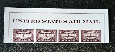 2018USA Forever United States Air Mail Red - Header strip of 4  Mint NH