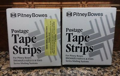 2 PITNEY BOWES #625-0 POSTAGE METER PERFORATED TAPE STRIPS 300/ea E510/E515/E565