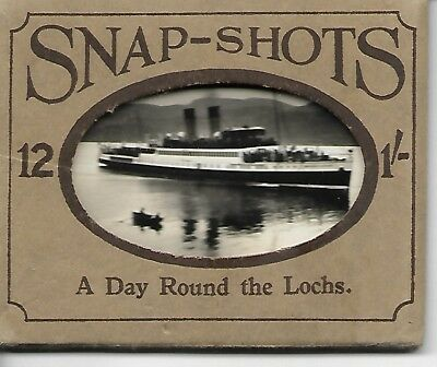 12  REAL  PHOTO  SNAPSHOTS  of  LOCHS - VINTAGE (COMPLETE SET)