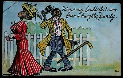 Black Americana Postcard Greetings Posted Sambo Centralia PA 1912
