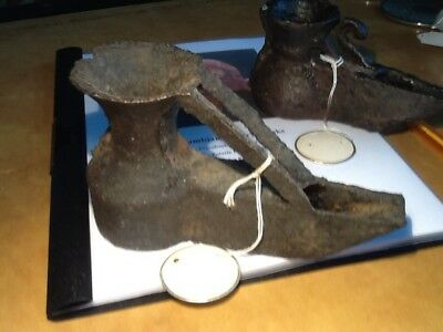 #1.  BRONZE OIL LAMP -  Early Islamic - large  = Ancient - Middle Ages