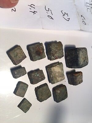 Ancient GREEK / Seleucid JEWISH bronze weights. For coin purity of silver + gold