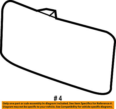 Lincoln FORD OEM Town Car Door Rear Side View-Mirror Glass Left 1W1Z17K707CA