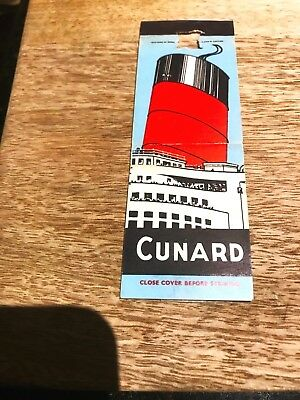 Cunard 'Your Way Across the Atlantic' Matchbox Cover-1950's-Bryant & May's-Eng.