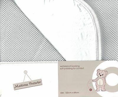 Target Mattress Protector Waterproof Backing 130Cm X 69Cm New
