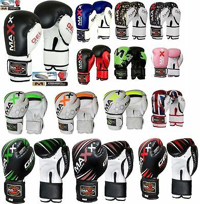 Maxx® Boxing Gloves Punch Bag Training MMA Muay Thai KickBoxing Fight Sparring U