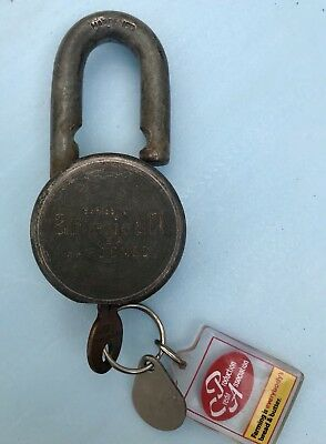 Vintage AMERICAN LOCK CO. Series 10 Padlock USA Hardened Steel w/ Key